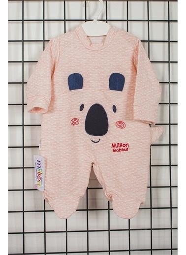 Pelops Kids Million Babies Pandalı Kız Bebek Patikli Tulum 2083 Pembe